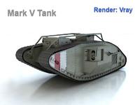 mark v tank male 3d max