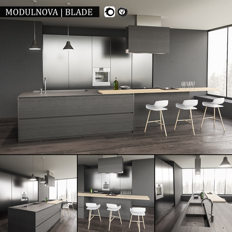 Kitchen Design 3d Model: 3d Kitchen Blade Model