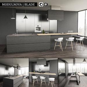 3d kitchen blade model