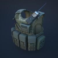 3d body armor model