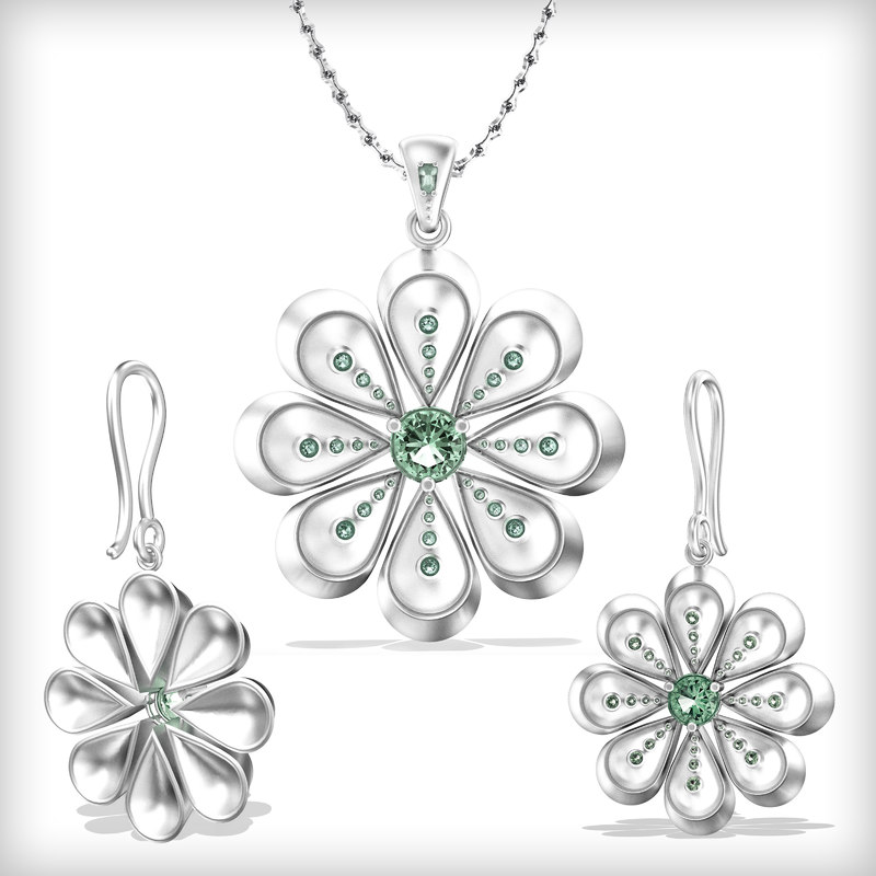 free stl pendant earrings 3d model