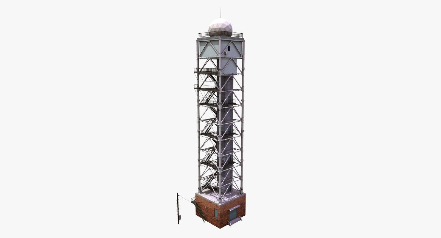 3d model radar control tower