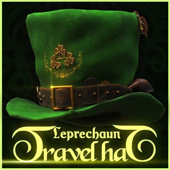 leprechaun travel hat 3d max