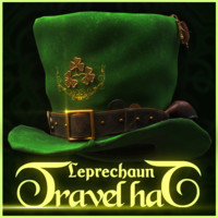 leprechaun travel hat 3d max
