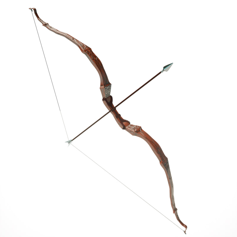 elegant bow arrow 3d x
