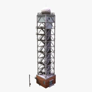 3d model radar control tower