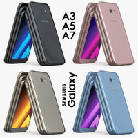 3d model samsung galaxy a3 2017