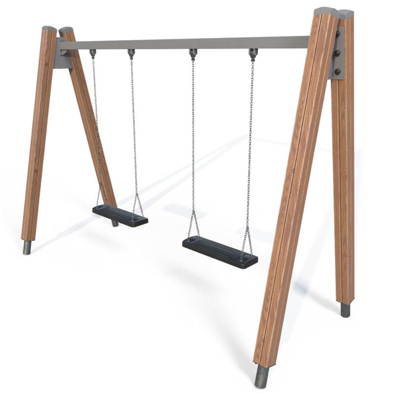 3d model playground swings