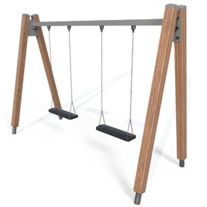 3d model playground swings