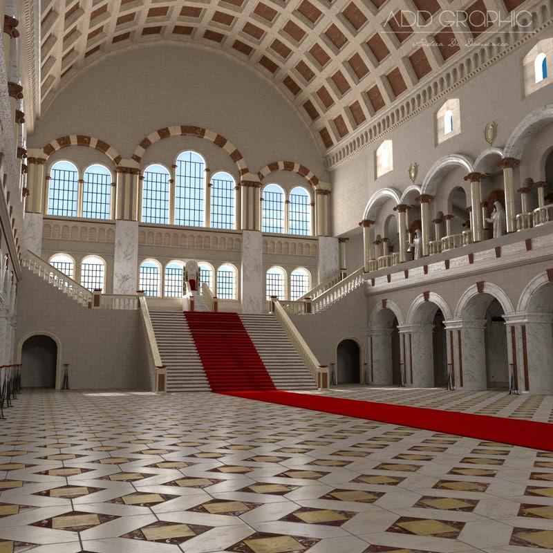 interior throne naves obj