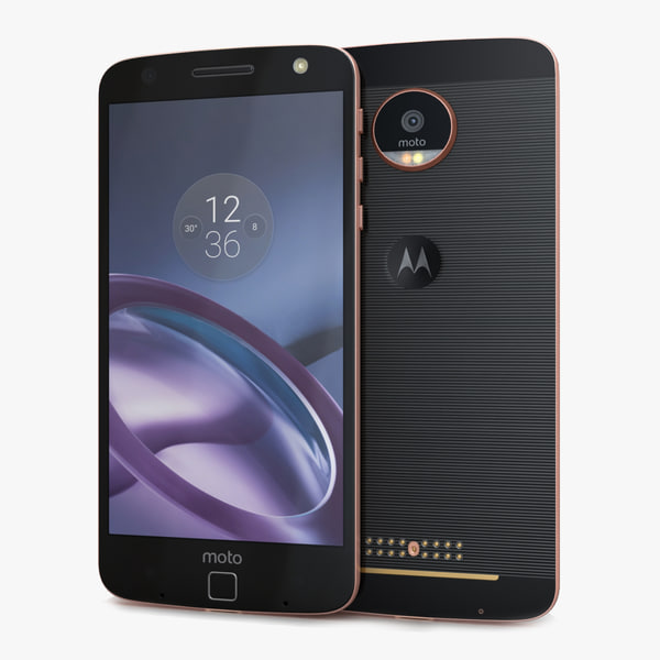 motorola moto z rose 3d model
