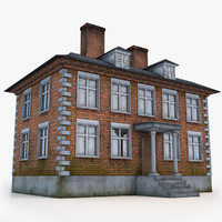 3d old english house model