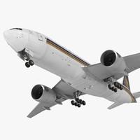 boeing 777 200er singapore 3d max