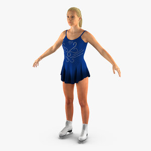 female figure skater 2 3d max