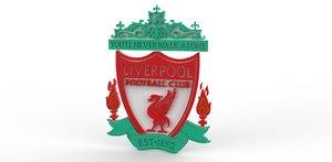 liverpool fc emblem 3d obj
