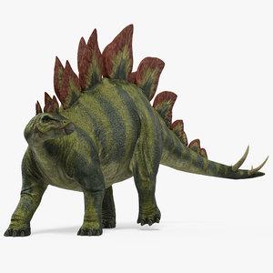 3d 3ds stegosaurus standing pose