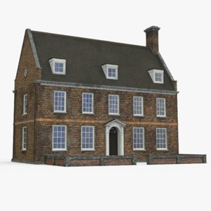 3d model english house old