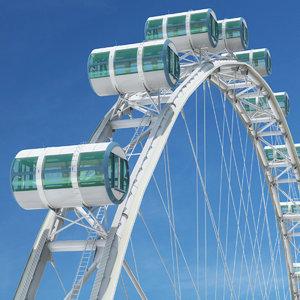 3d singapore flyer ferris wheel model