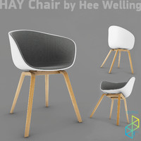 4 chairs hays 3d model