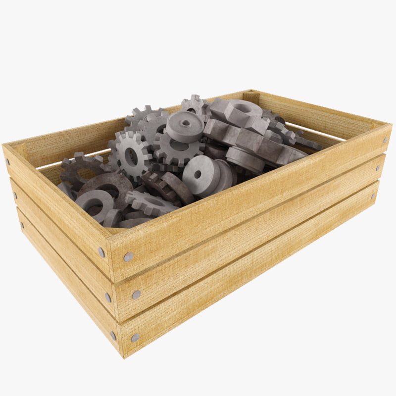 box filled gears 3d model