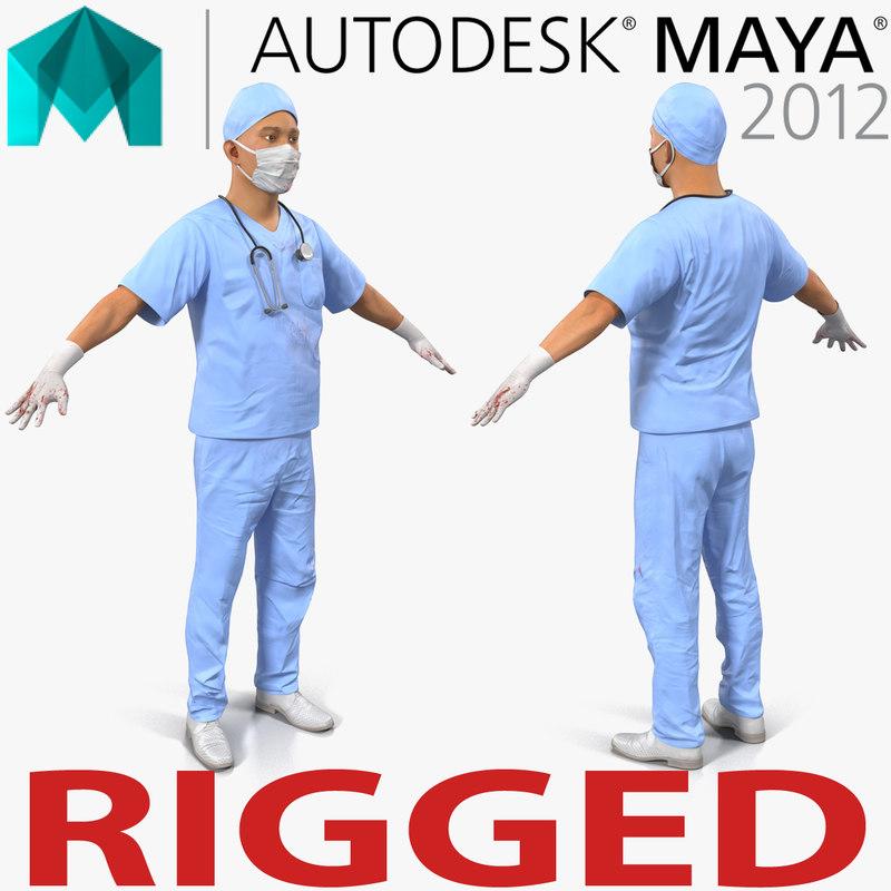 male surgeon asian rigged ma