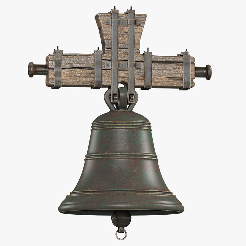 3d old charch bell