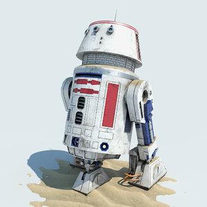 3d r5-d4 droid model