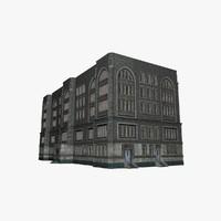 american building c4d