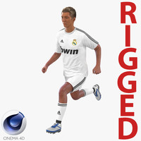 soccer player real madrid 3d model