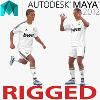 soccer player real madrid 3d ma