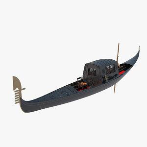 3d venetian gondola roof model