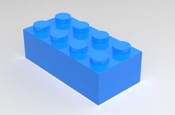 3d lego block model