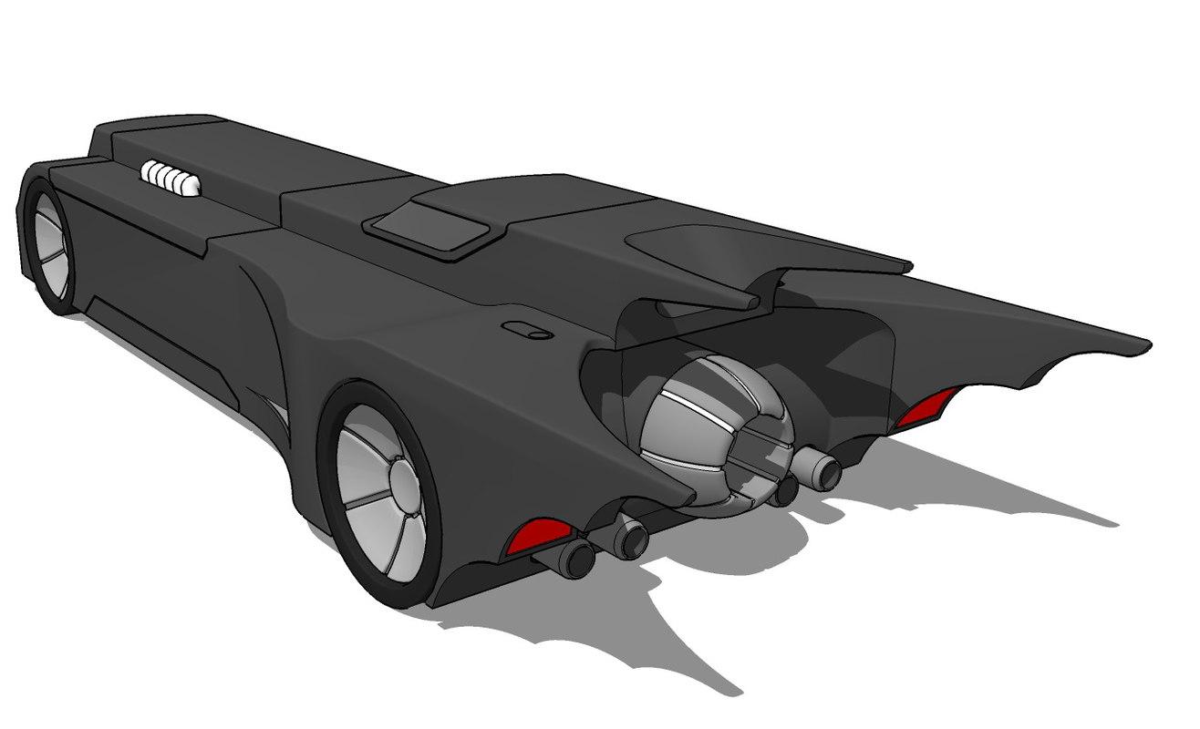 1993 batmobile 3d obj