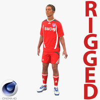 soccer player rigged 3d model