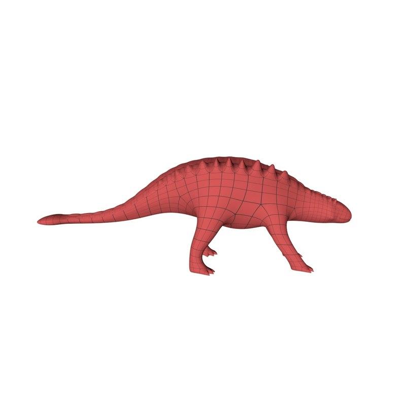 3d base mesh ankylosauria