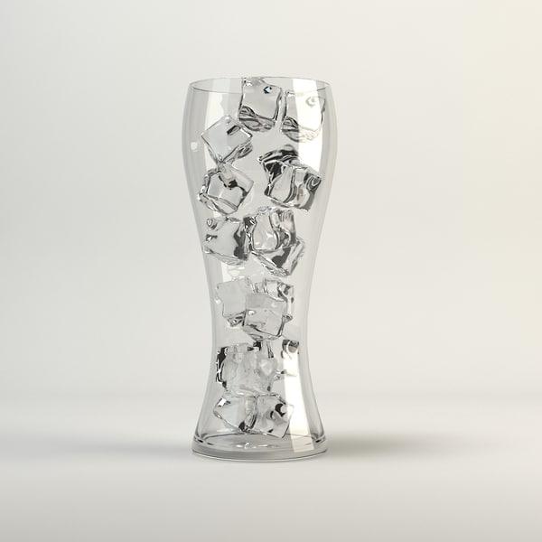 cube glass ice 3d model