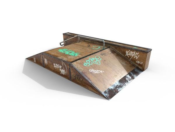 skate ramp pbr 3d model