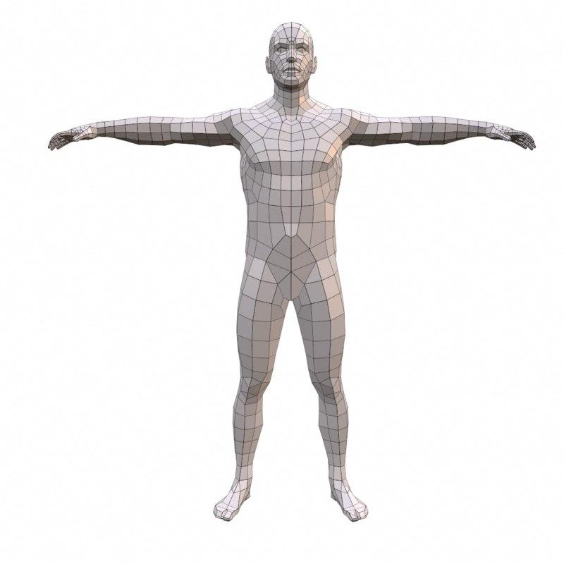 anatomically correct 3d obj