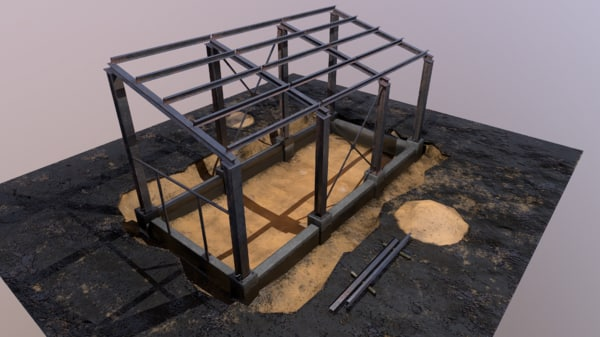 3d pbr construction site model