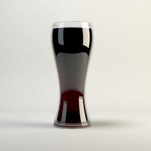 3d model cola glass