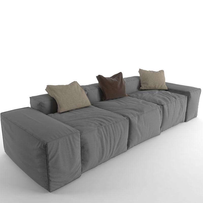 sofa peanut b 3d model