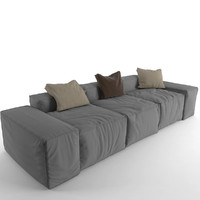 sofa peanut b 3d model