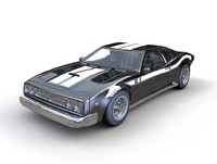 muscle car american style 3d c4d