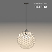 parametric abstract lamp patera 3d model