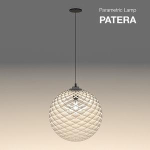 parametric abstract lamp patera 3d model