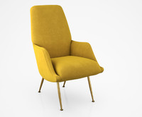armchair chair brass 3d max