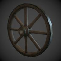 3d wagon wheel model