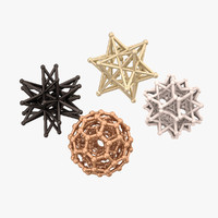 decorative star balls 3d max