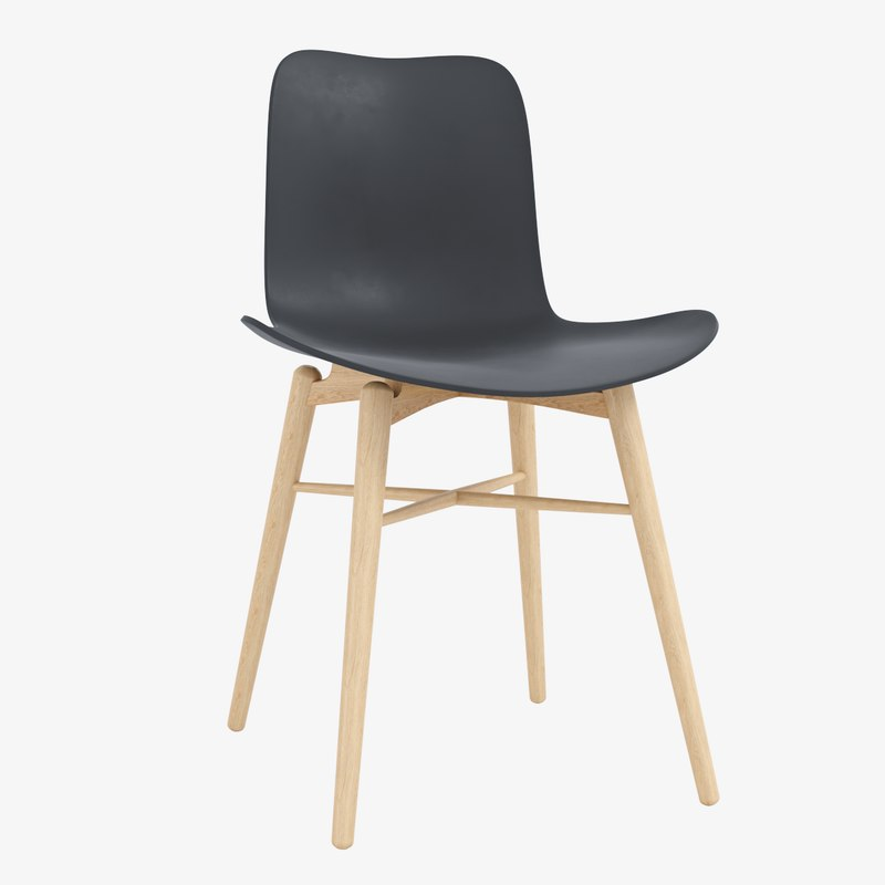 norr langue dining chair 3d model