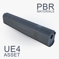 Assault Weapon Square Sound Suppressor, Silencer
